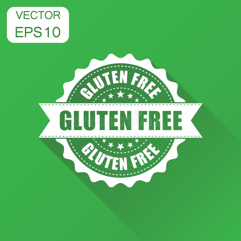Gluten free rubber stamp icon. Business concept no gluten health royalty free illustration