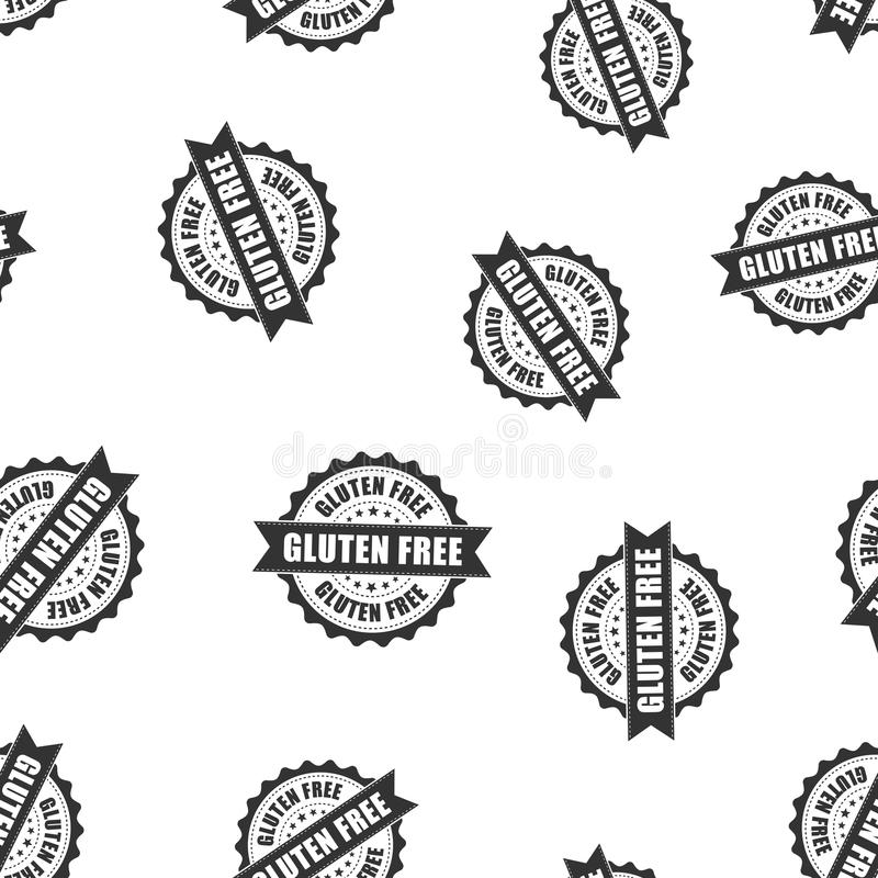 Gluten free rubber stamp seamless pattern background. Business c royalty free illustration