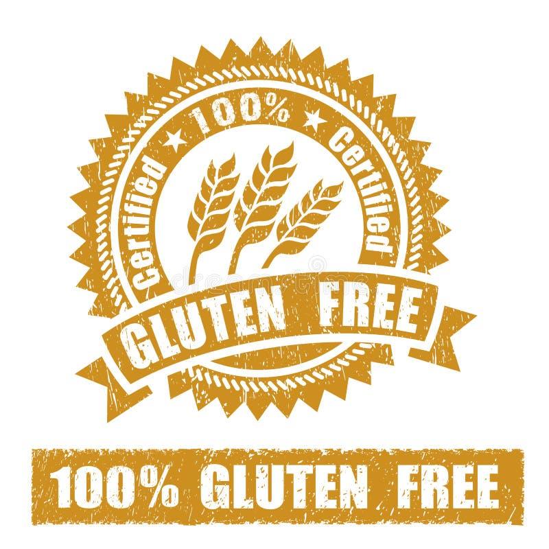 Gluten Free Rubber Stamp stock illustration