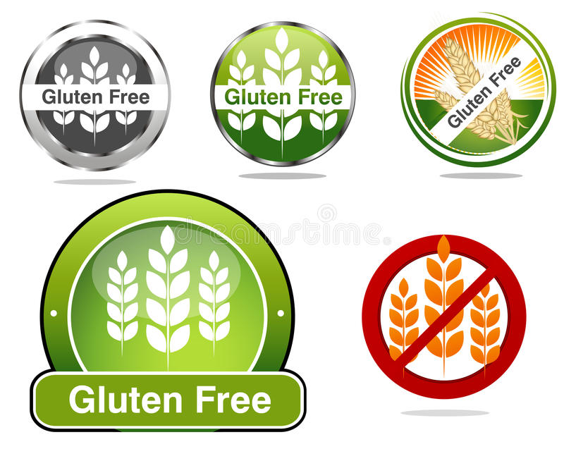 Download Gluten Free Seals For Celiac Sprue Treatment Stock Vector - Image: 25036599