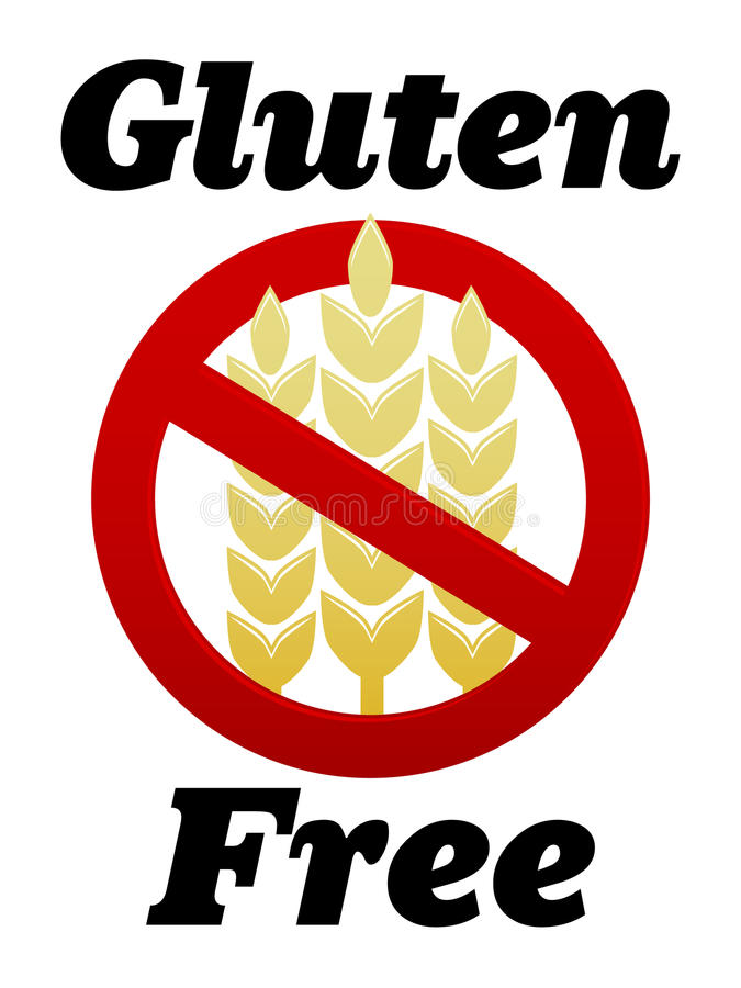 Gluten Free Symbol. Illustration of a gluten free symbol and text vector illustration