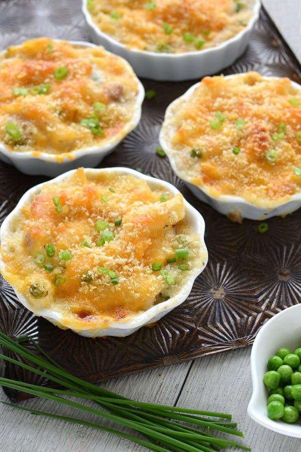 Individual Gluten Free Tuna Penne Casserole Stock Image ...