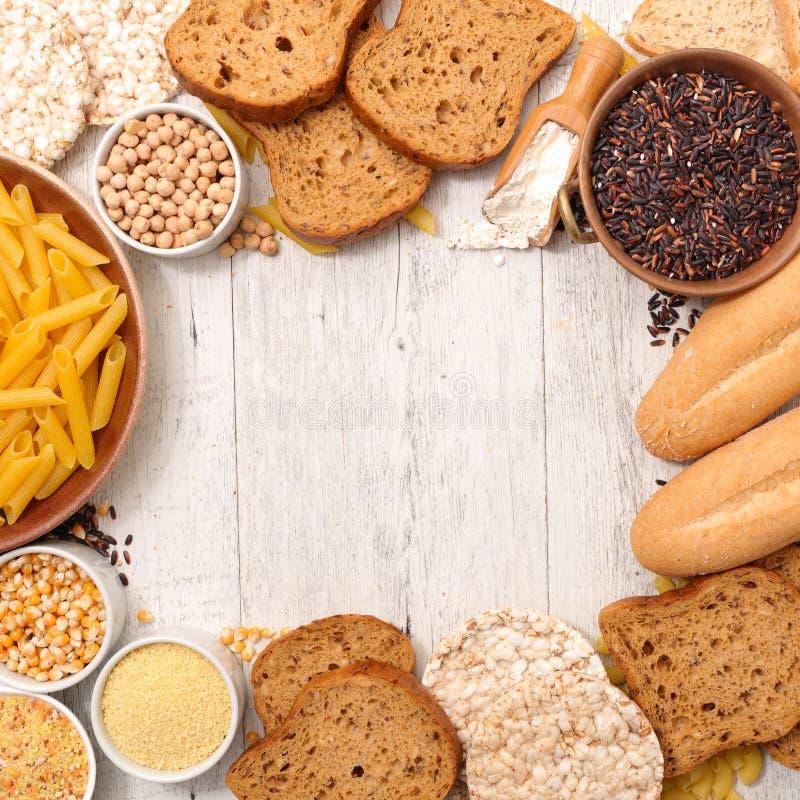 Gluten frigör mat royaltyfri bild