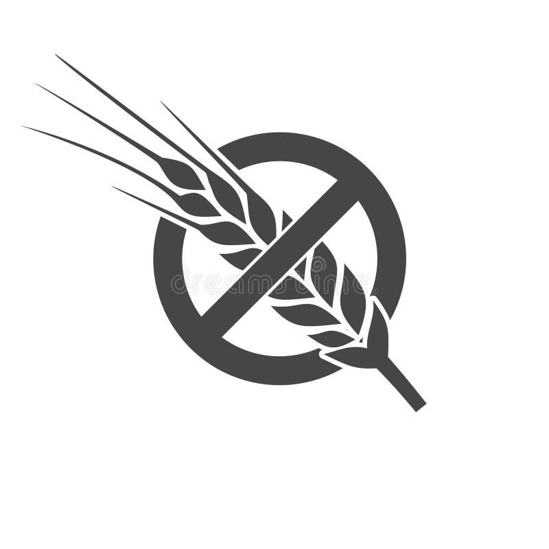 Gluten geben Ikone frei vektor abbildung