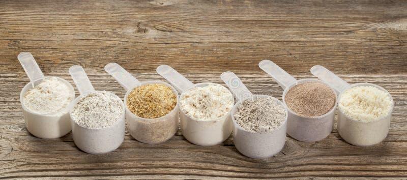 Gluten geben Mehle frei lizenzfreie stockbilder