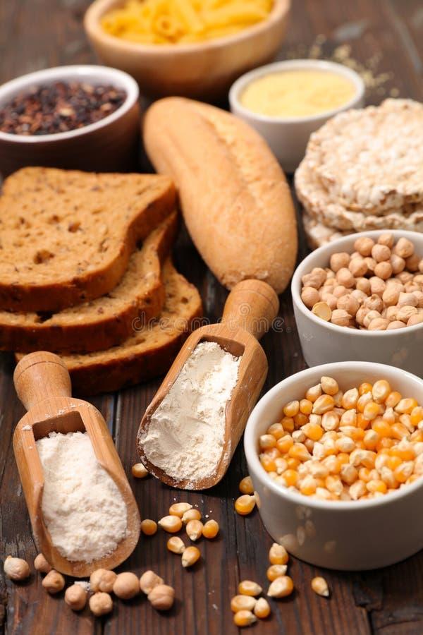 Gluten geben Nahrung frei stockfotos