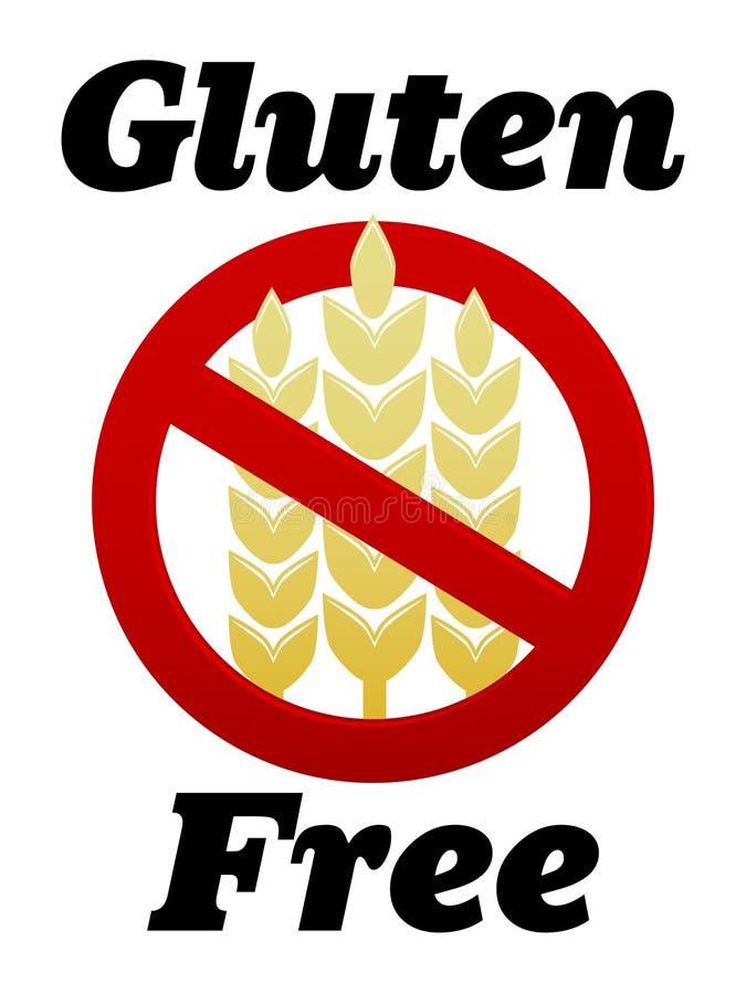 Gluten geben Symbol frei vektor abbildung