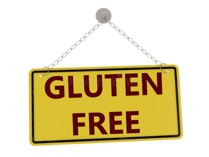Gluten geben Zeichen frei lizenzfreie abbildung