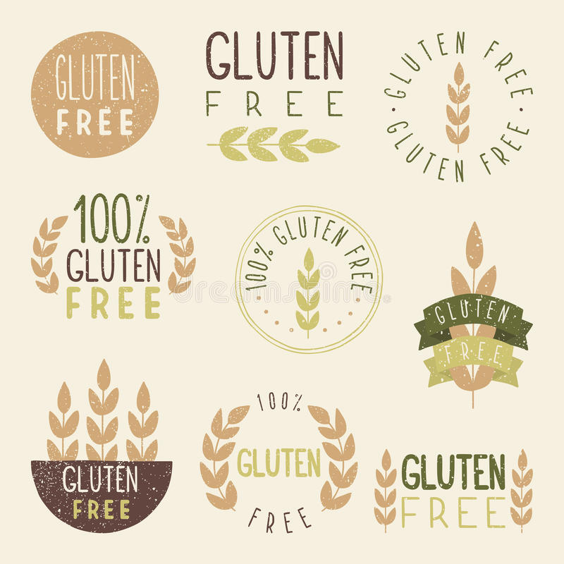 Gluten vrije etiketten royalty-vrije illustratie