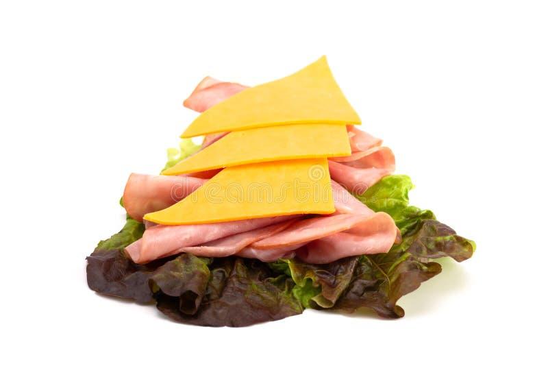 Gluten Vrije Oplossing voor een Ham en Kaassandwich stock afbeeldingen