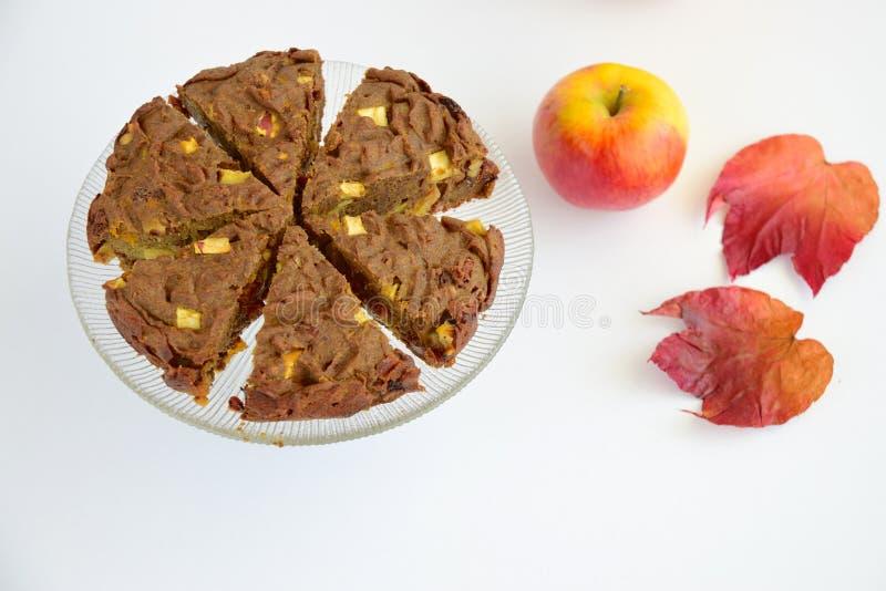 Glutenfreier veganischer Schokoladenkürbis lizenzfreie stockbilder