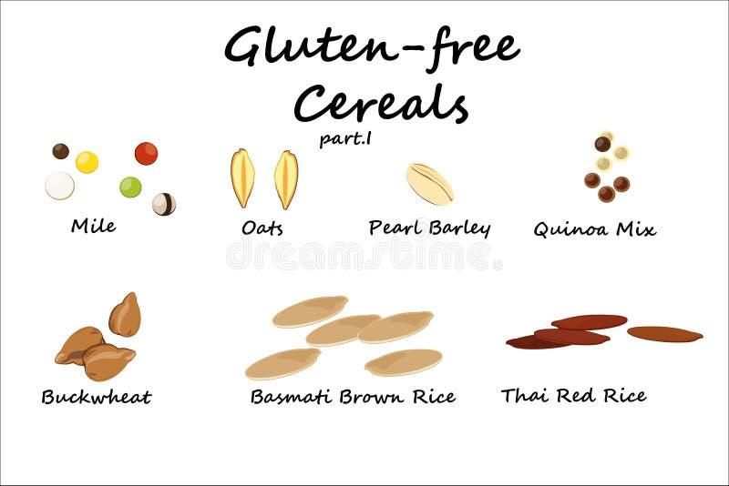 Glutenfreies Getreideteil II lizenzfreie abbildung