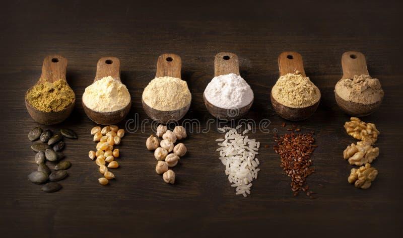 Glutenfritt mjöl royaltyfri foto