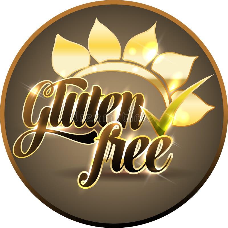 Glutenu bezpłatny round symbol ilustracji