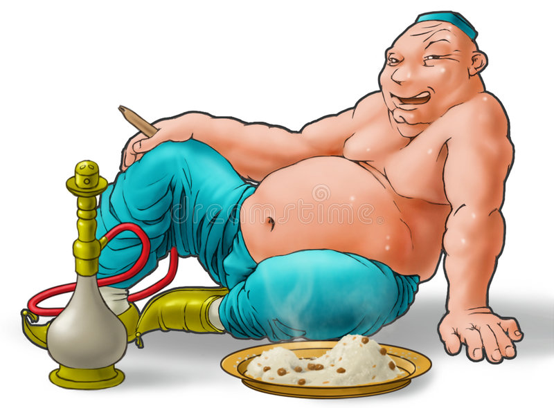 Glutton stock illustration