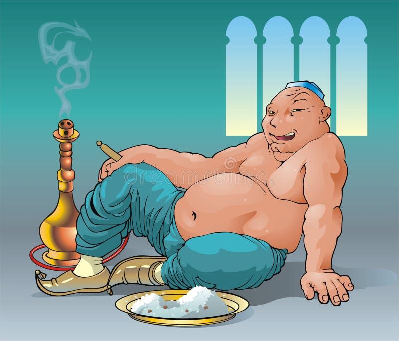 Glutton illustration libre de droits