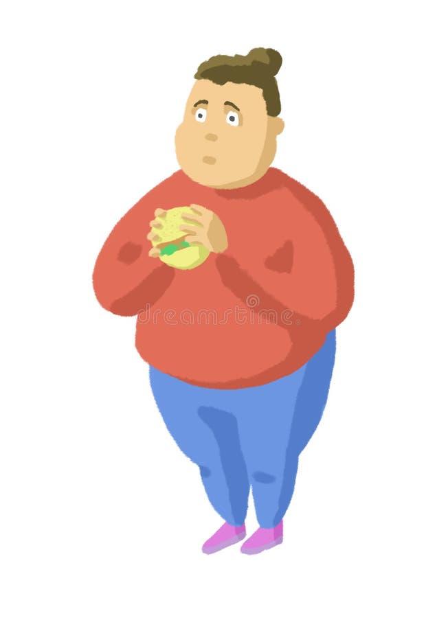 glutton illustration stock