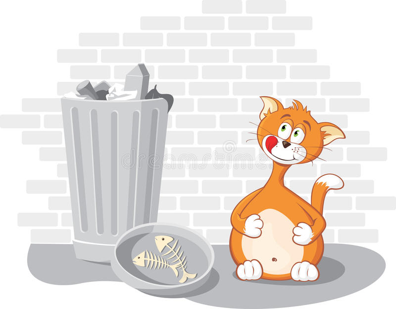 Download Glutton Cat stock vector. Image of lunch, kitten, smack - 9568241