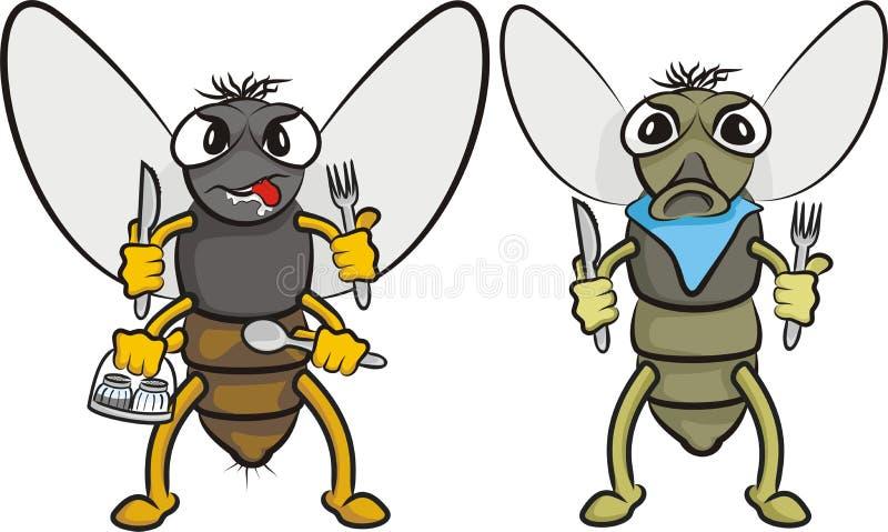 Gluttonous komarnica royalty ilustracja