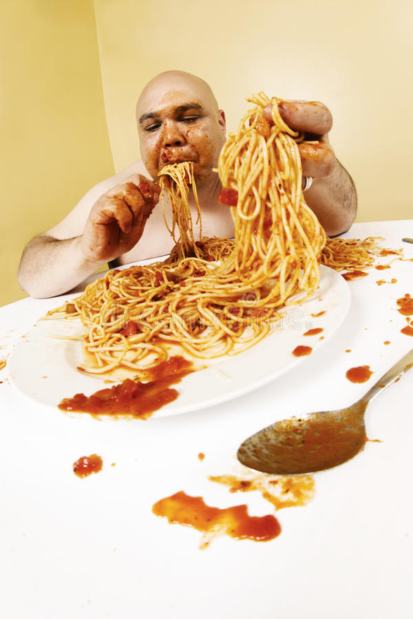 Gluttony royalty free stock image