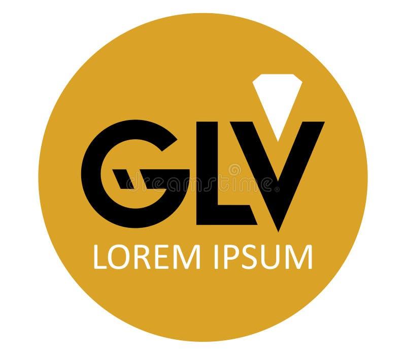 Download GLV Logo Design stock illustration. Image of brand, crystal - 83704948