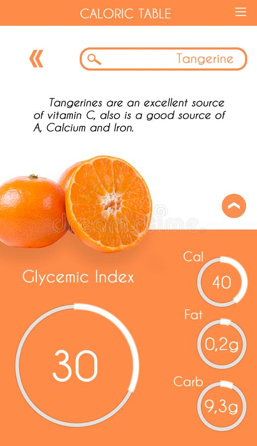 Glycemic index application stock images