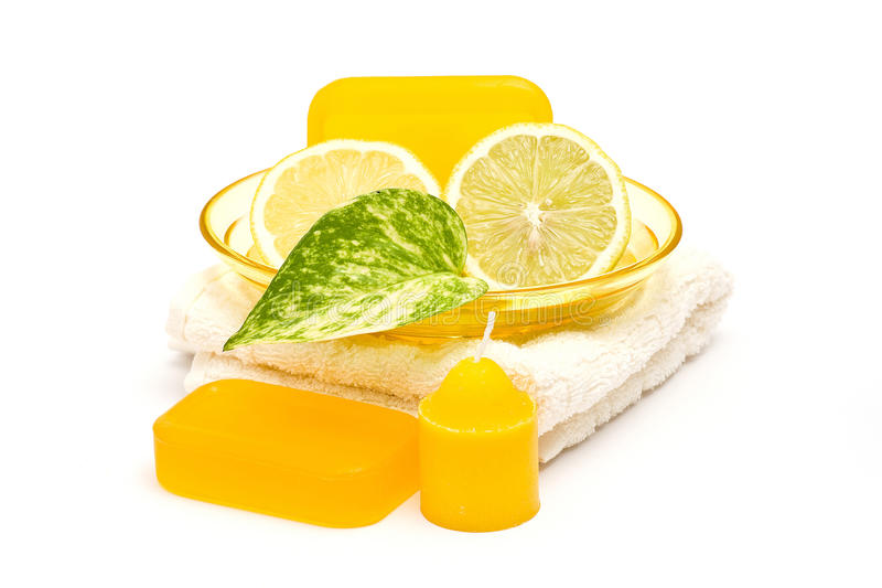 Glycerin cytryna mydło i obraz stock