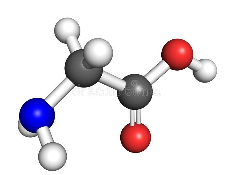 Glycinemolecule stock illustratie