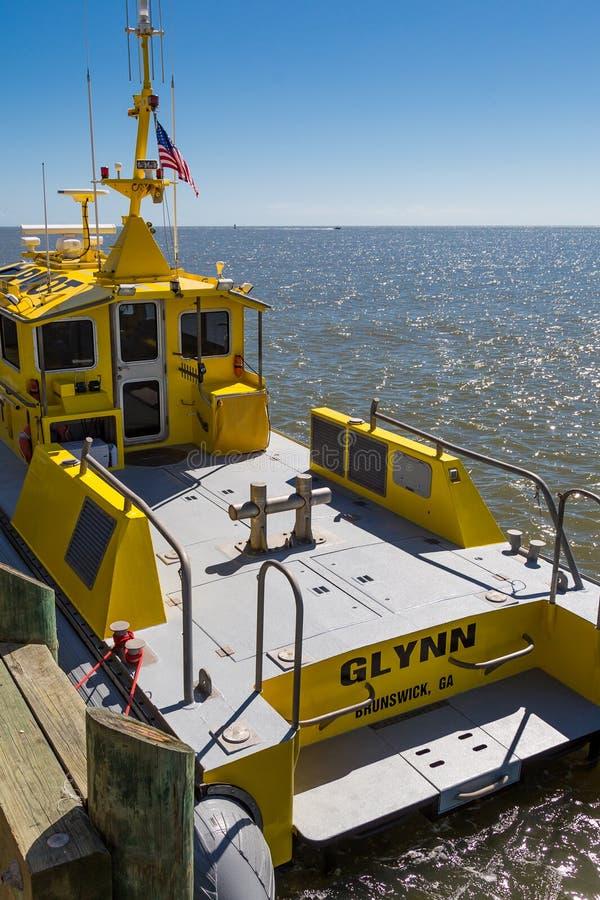 Glynn County Pilot Boat fotografering för bildbyråer