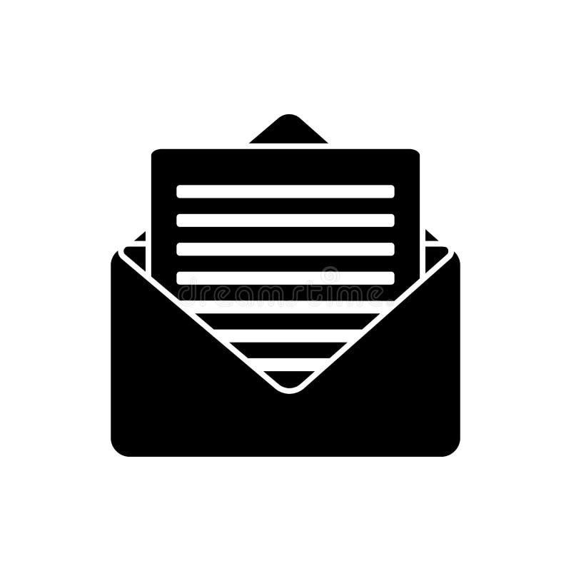 Glyph-E-Mail-Ikone Vektorgraphikillustration des E-Mail-Symbols lokalisierte einfache vektor abbildung