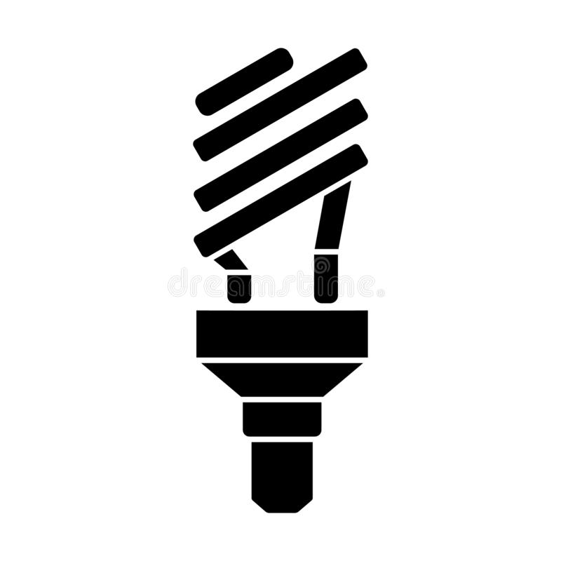 Glyph ecological light bulb icon. Halogen lamp. Simple vector illustration isolated. On white background vector illustration
