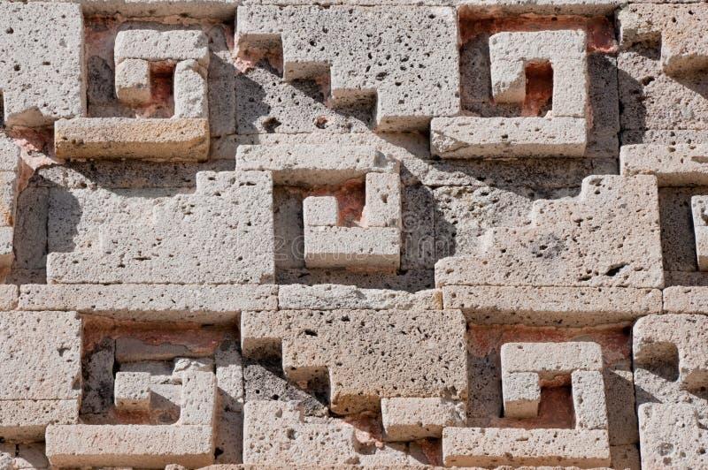 Glyph em Mitla, Oaxaca (México) imagens de stock