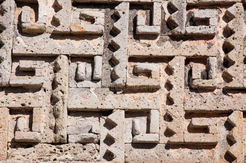 Glyph en el sitio arqueológico de Mitla, México foto de archivo