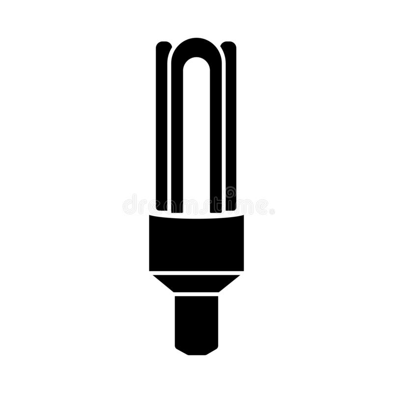 Glyph halogen lamp. Ecological light bulb icon. Simple vector illustration isolated. On white background royalty free illustration