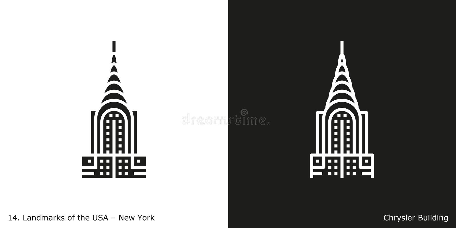 Chrysler Building icon royalty free illustration