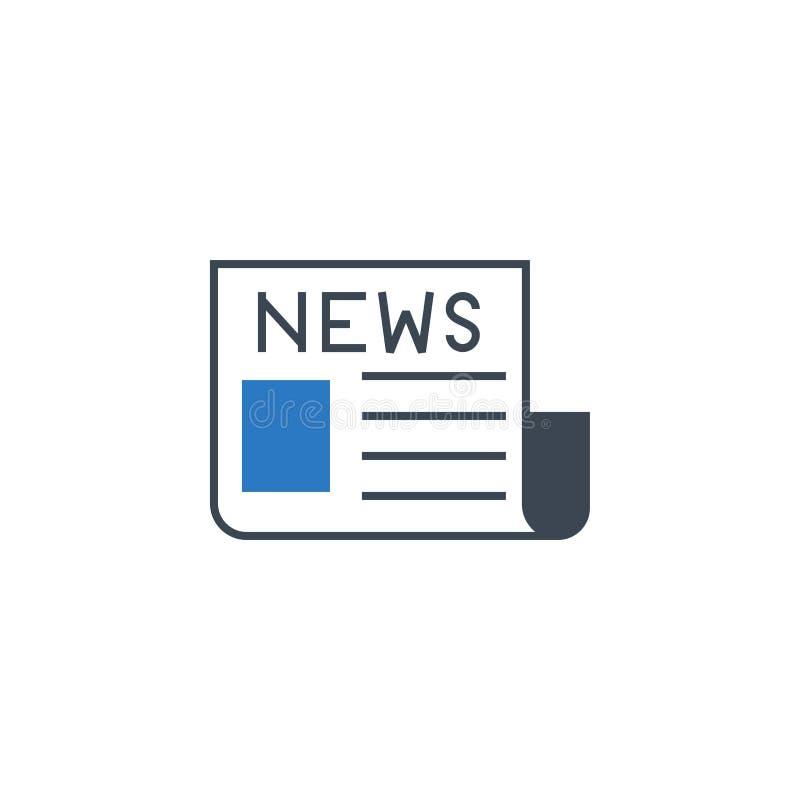 Glyphikone Vektor der Zeitung in Verbindung stehende lizenzfreie abbildung