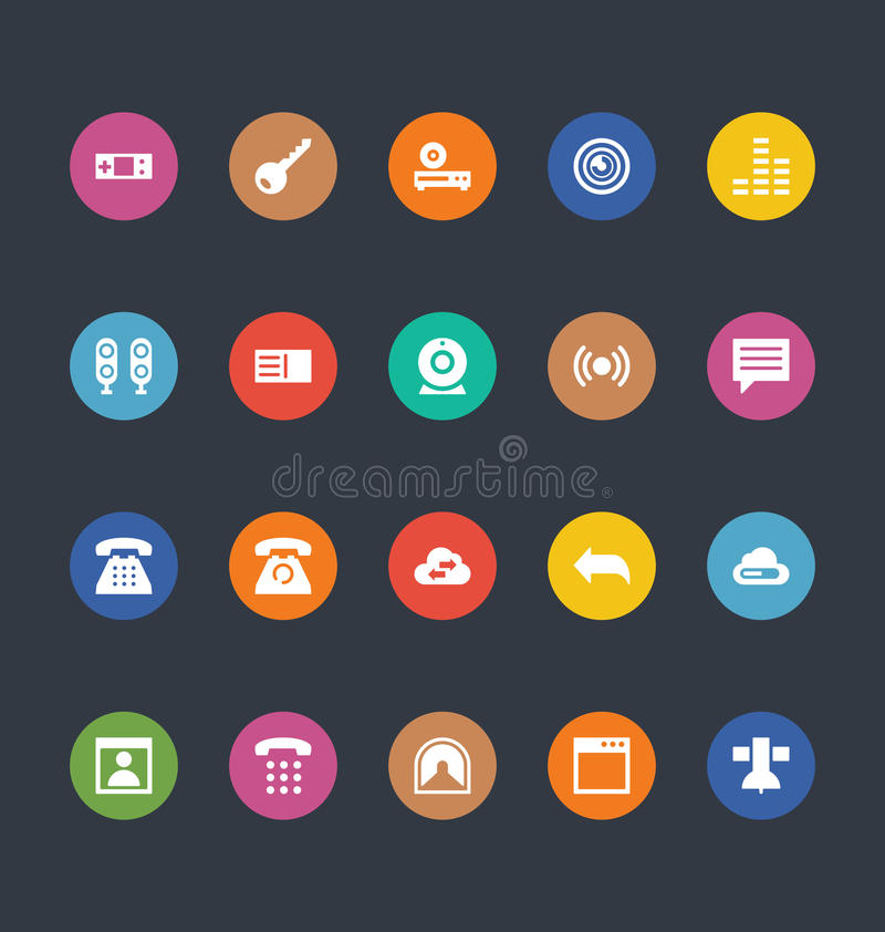 Glyphs Colored Vector Icons 11 vector illustration