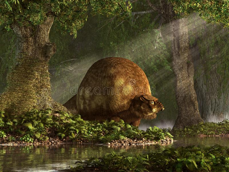 Glyptodons ilustração royalty free