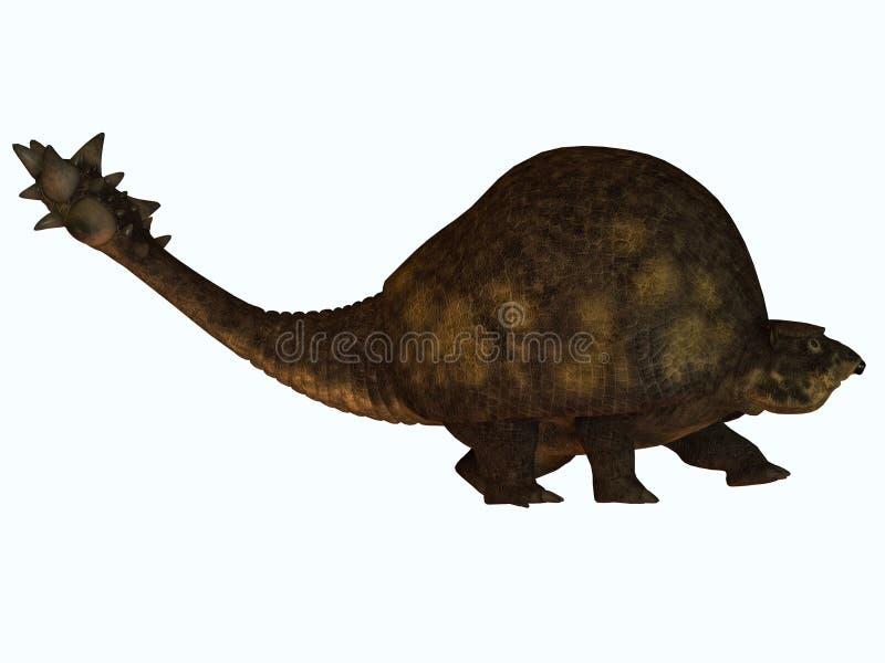 Glyptodont no branco ilustração do vetor