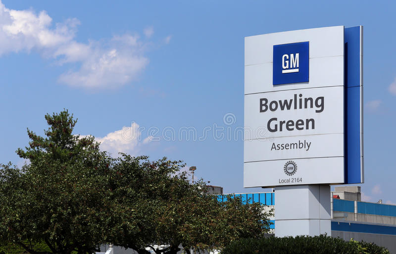 GM Bowling Green Assembly Plant royalty free stock photo