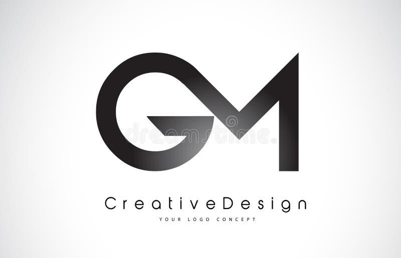 GM G M Letter Logo Design Vetor moderno L das letras do ícone criativo ilustração royalty free