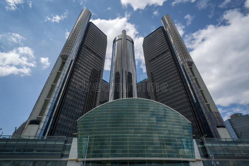 GM Headquarters in Detroit royalty free stock photography