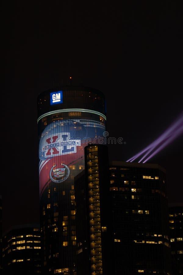 Gm-renässansmitt som väntar på Super Bowl 40 royaltyfria bilder