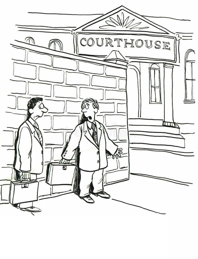Gmach sądu royalty ilustracja