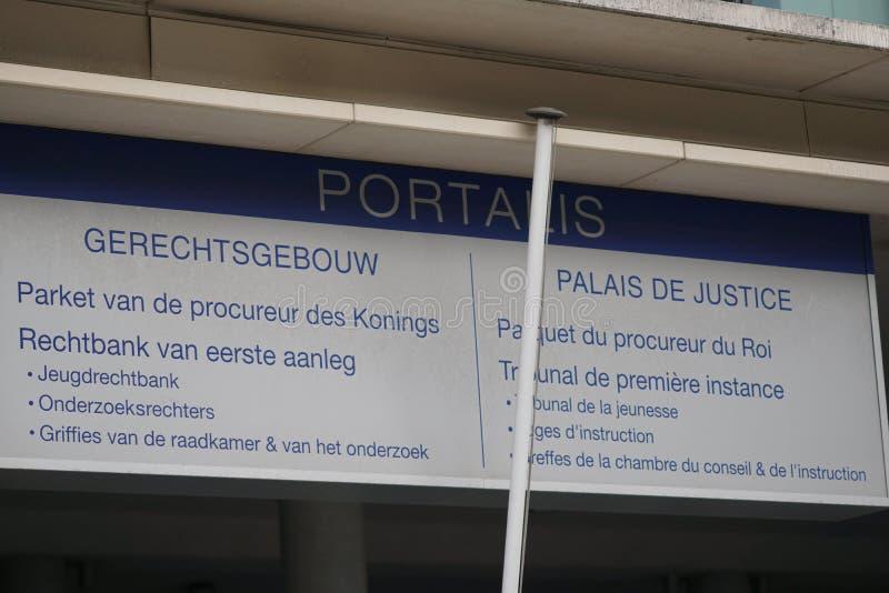 Gmach sądu Bruksela, Belgia zdjęcia royalty free
