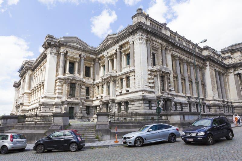 Gmach sądu Bruksela od Belgia zdjęcia royalty free
