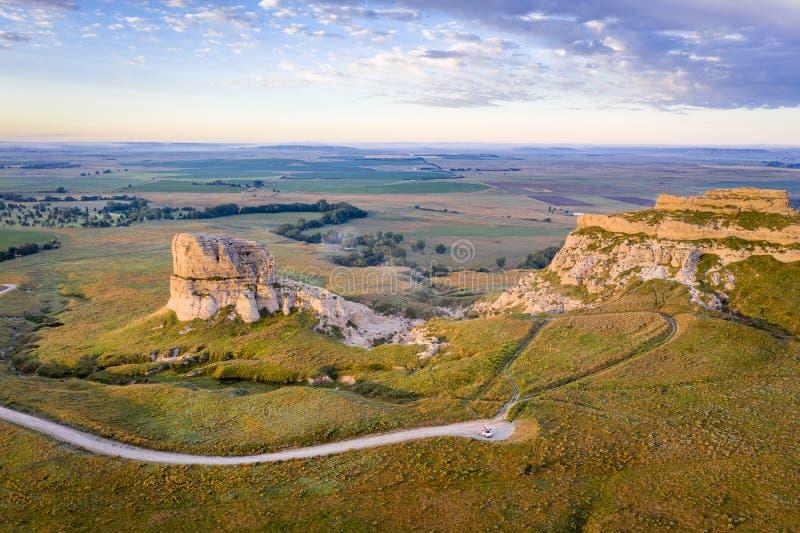 Gmach sądu i więzienia skały w Nebraska obrazy royalty free