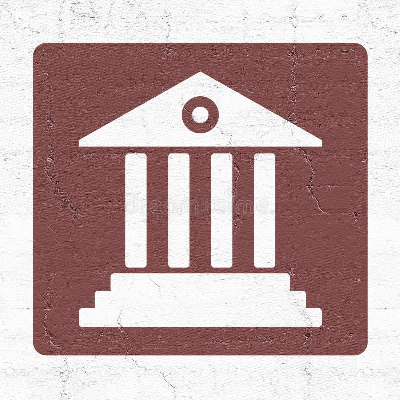 Gmach sądu ikona royalty ilustracja
