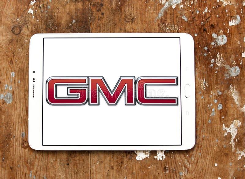 GMC circule en voiture le logo image stock
