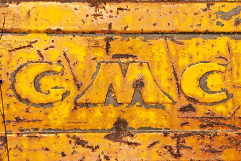 gmc loga ciężarówka fotografia royalty free